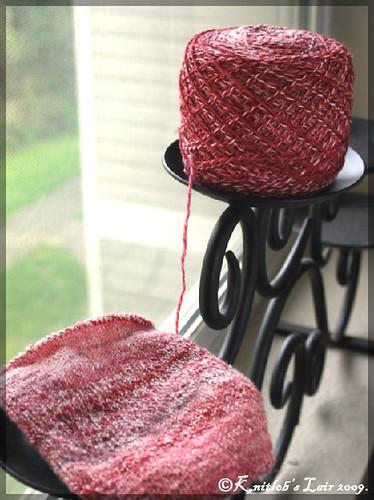 punainen SW merino sukkapari
