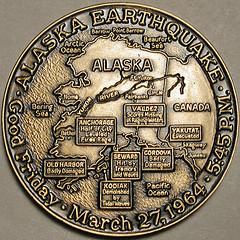 1964 Alaska Earthquake medal obverse