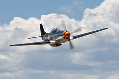 north american p-51d mustang (MatthewPHX) Tags: arizona airplane high airport nikon aviation country north fame sigma valle american planes mustang warbirds flyin p51 planesoffame northamerican d90 40g valleairport 150500mm highcountrywarbirdsflyin
