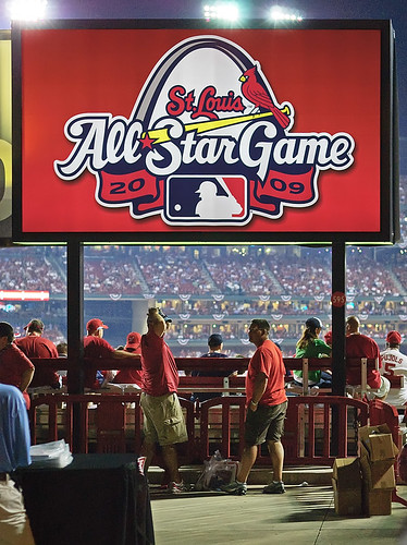 All Star Baseball Game, Busch Stadium, in Saint Louis, Missouri, USA - sign