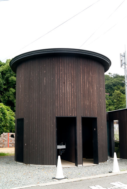 Tadao Ando designed public toilet