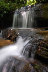 Crow Creek Falls (davidwilliamreed) Tags: county trees nature water creek georgia waterfall rocks long exposure falls crow rabun flowingwater slowwater