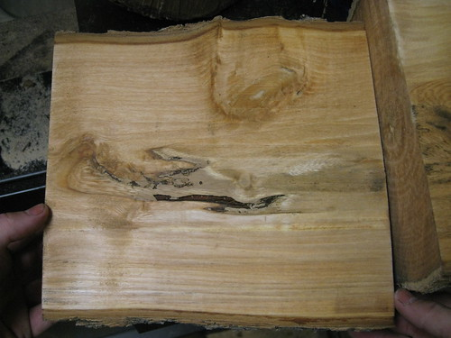 Jacaranda log resawn in half