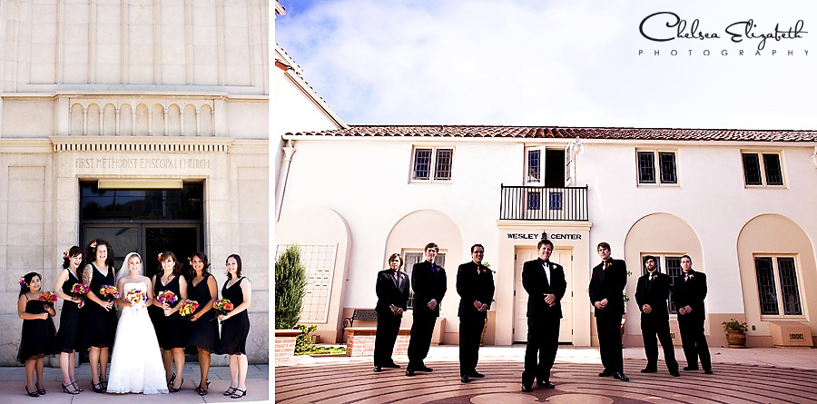 Ventura wedding photographer bridesmaids and groomsmen portrait