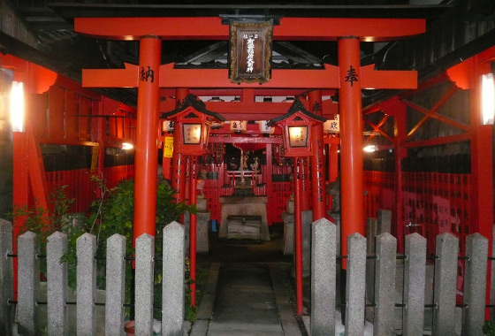 A cute little shrine in the Gion district