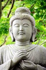 Buddha statue at Hase-dera (Andrea Schaffer) Tags: travel japan temple buddhist kamakura buddhism nippon  2009 nihon hasedera  buddhastatue shingon hasekannon  canon450d july2009
