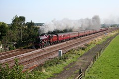 Leander at Colton Junction (TruckinTim) Tags: mountain junction steam colton express leander lms mainline cumbrian 5690 5xp