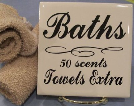 Old Fashioned Bath Sign