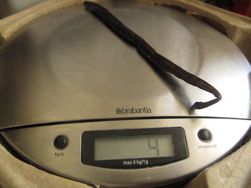 Vanilla on the scales