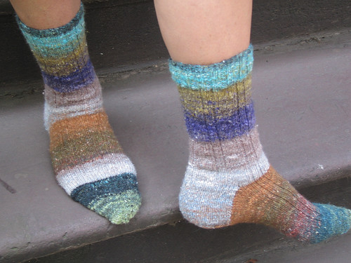 Madder Ribbed Socks on Claudia