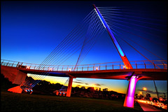 martin olav sabo bridge (Dan Anderson (dead camera, RIP)) Tags: bridge pink blue sunset red summer sky white art cars minnesota bike bicycle yellow walking foot lights evening community highway traffic martin suspension phillips minneapolis pedestrian east neighborhood twincities 55 avenue mn seward longfellow greenway olav sabo hiawatha cablestayed dananderson