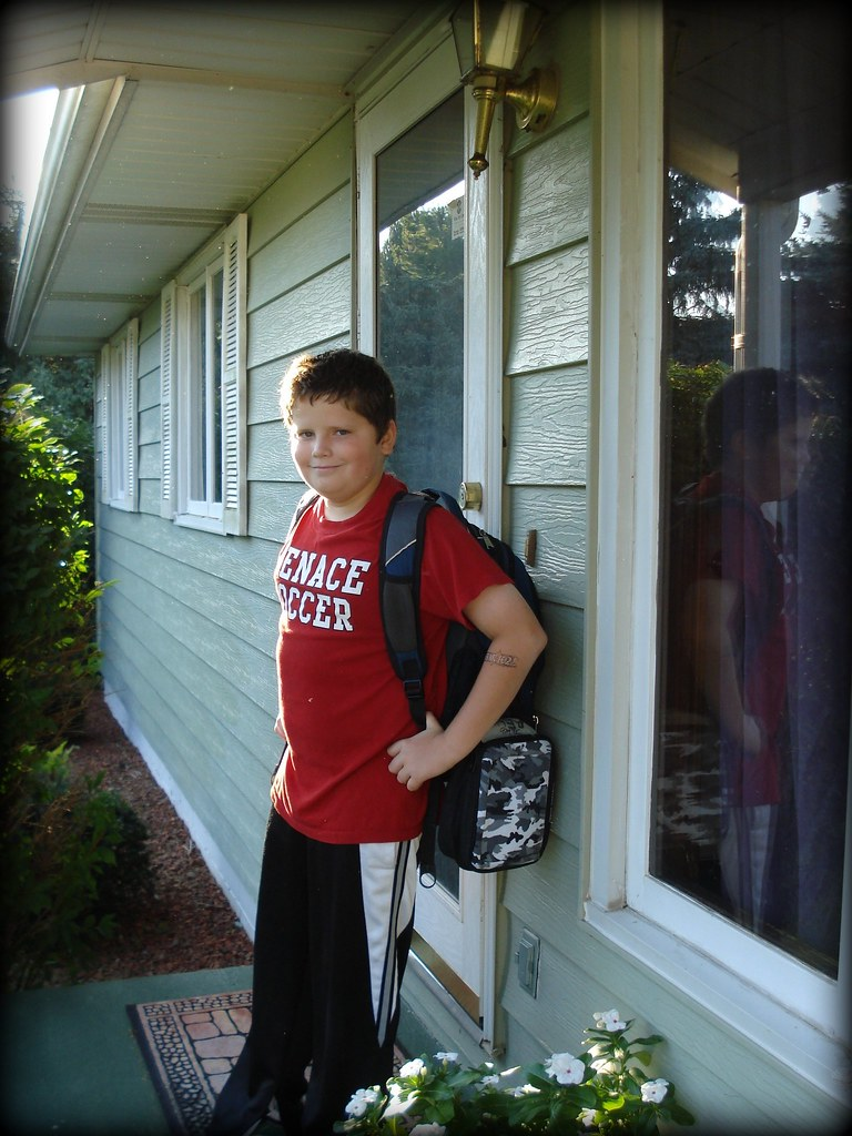The Boy First Day of 7th Grade