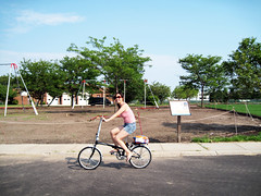 riding my bike @ governors island
