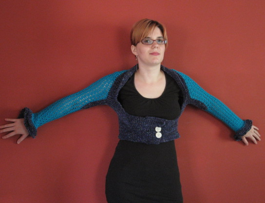Crochet Shrug 1, front view (2)