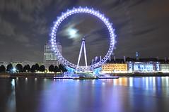 [フリー画像] [人工風景] [夜景] [観覧車] [遊具] [イギリス風景] [ロンドン]     [フリー素材]