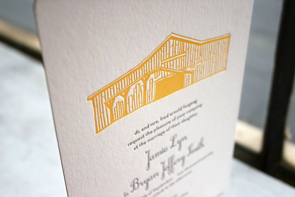 Smock Design Contest Runner Up - Custom Letterpress Invitation