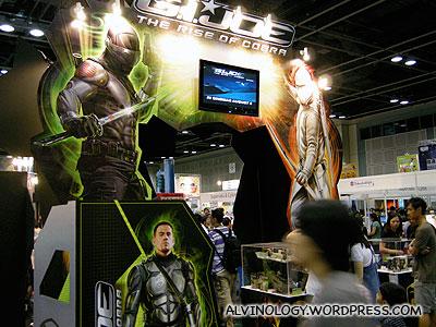 G.I. Joe booth