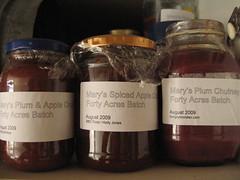 Forty Acres fruit chutneys