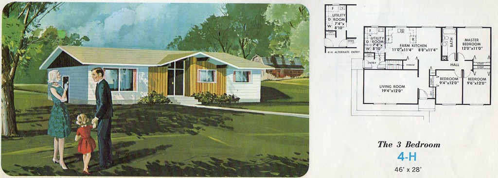 The world 39 s best photos of 1960s and midcenturyfloorplans for Split level house plans 1960s