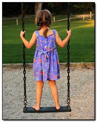 Swinging I (Lisa-S) Tags: portrait girl grass childhood
