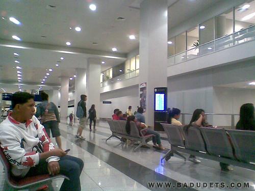 inside the NAIA Terminal 3, 9 am