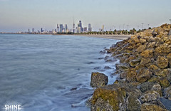 Kuwait City.. (SHINE KWS) Tags: city blue sea sky beach water rock high shine dynamic sony kuwait alpha ahmad a200 range ahmed hdr kws shuwaikh q8  kwt