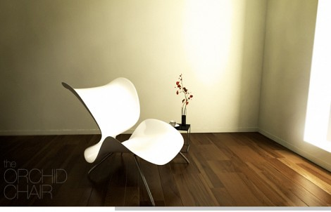 orchid lounge chair design