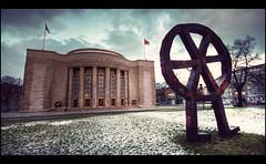 Berlin - Volksburne (Manlio Castagna) Tags: sky white berlin canon germany angle wide 1020mm hdr manlio 400d manliok theauthorsplaza simgam volksburne