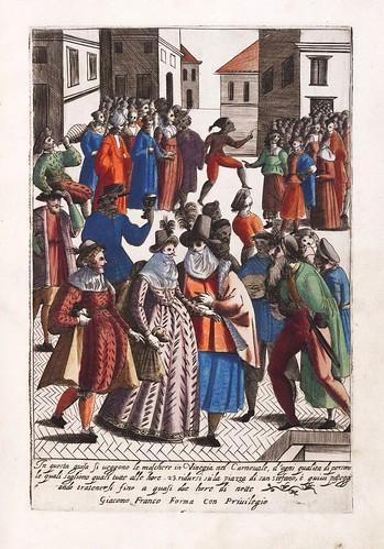 017-Vestimenta de mascaras en el carnaval de Venecia-Habiti d'hvomeni et donne venetiane 1609