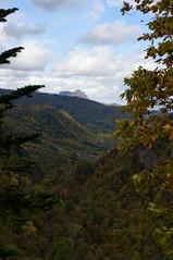 渓谷展望台から八剣山を遠望