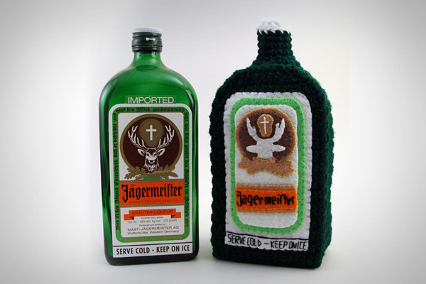 Crochet Bottle Of Jagermeister