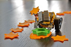 Making Stars (twmjedi) Tags: canon toy rebel lego disney pixar 365 efs droid playdough xsi 1755 walle 1755mm project365 efs1755 canonefs1755mmf28isusm 450d canonefs1755mmf28 365toyproject walle365 walleandthedroid