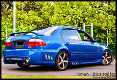 HondaCivic_0182 (Steve Nibourette) Tags: blue cars honda rally subaru modified civic seychelles impreza b18c
