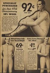 Sears catalogue 1935 - Men's union suits