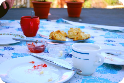 The weekend started with breakfast on the back porch