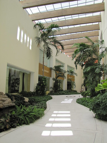 Big, spacious hallways that smell and look beautiful.