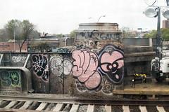 Such x Phetus x Sane (Into Space!) Tags: city railroad urban ny newyork art canon graffiti li photo traintracks tracks longisland queens graff lirr bombing such sane longislandrailroad throwie phetus intospace intospaces