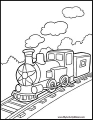 Train 2 coloring page