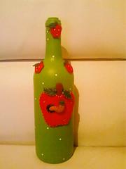 garrafa de aplicaçao biscuit maça (regina arte) Tags: de biscuit garrafa maça aplicaçao