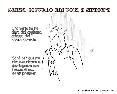 Senza cervello chi vota a sinistra by Livio Bonino