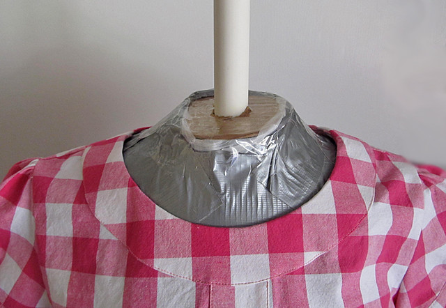 neck of duct tape dress form
