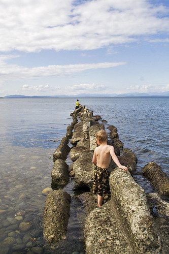 checking out the breakwater