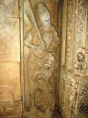 Surya punishing Chaya (chatts) Tags: india canon ancient temples cave karnataka hindu badami chatts bagalkot agastya chalukyas vatapi  540to757ad