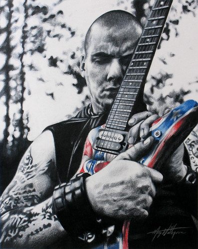 Phil Anselmo of Pantera - Coloured Pencil Drawing by beautyinmetal