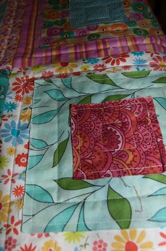 Ragged squares quilted 2