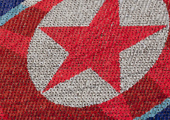 North Korean flag made by 20 000 kids (Eric Lafforgue) Tags: pictures travel red star photo war asia flag picture korea kimjongil asie coree journalist journalists northkorea pyongyang  dprk coreadelnorte juche kimilsung nordkorea lafforgue  ericlafforgue   coredunord coreadelnord  4627 northcorea coreedunord rdpc  insidenorthkorea  rpdc   coriadonorte  kimjongun coreiadonorte