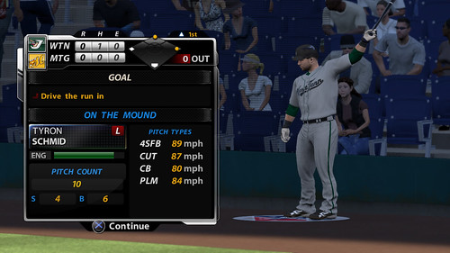 MLB 09 The Show screenshot - RTTS Goal Pres