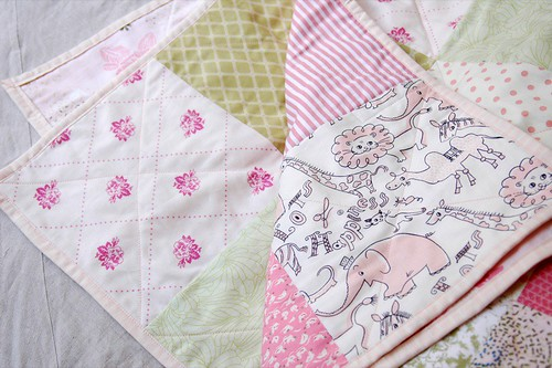 pink+green quilt fini