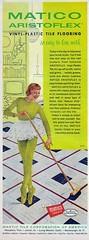 Tile Flooring Ad (saltycotton) Tags: vintage magazine tile ballerina advertisement 1950s 1956 flooring