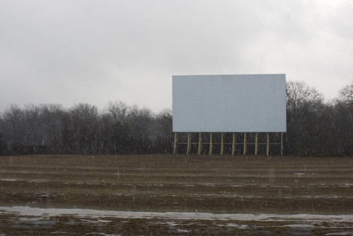 While the rain falls - Sunrise Matinee at the abandoned Mission 4 Drive-In (San Antonio, TX) by Justin Parr